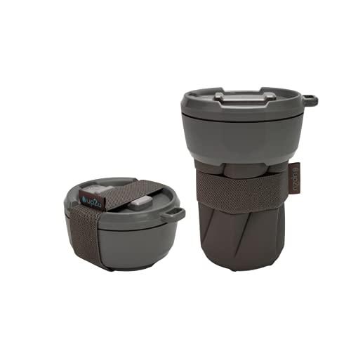 MuC My useful Cup® – Faltbarer Coffee-to-go Becher versch. Farben | klimaneutral | Made in Germany | Reisebecher | Mehrwegbecher für unterwegs | recycelbarer Kunststoff & Silikon | Kaffeebecher 350ml