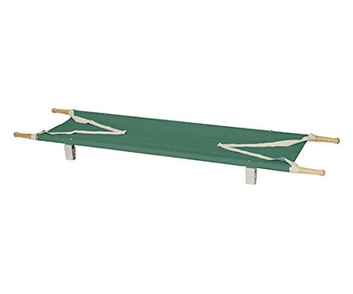 日本緑十字社 2ツ折りカラー担架 足付 グリーン 62-3805-73/380276