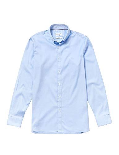 Lacoste Lacoste Herren Ch0431 Smoking Hemd, Blau (Hemisphere Blue 58m), 38 (Herstellergröße: 40)