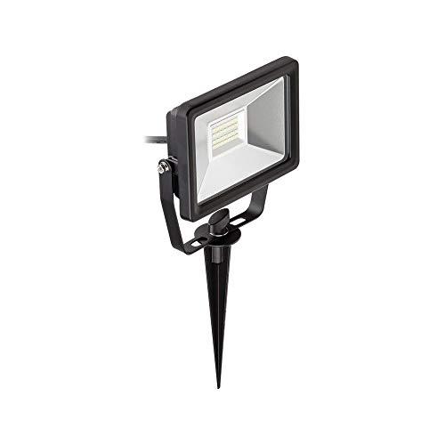 Goobay 59009 LED schijnwerper voor buiten, dubbel op telescoopstatief, 2 x 20 W, geel, zwart, box