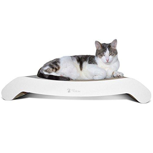 PetFusion FlipPad Cat Scratcher Lounge, 27 Inch Reversible Cat Scratching Pad. Scratch, Play, Perch, Lounge. Superior Cardboard Cat Lounge. 1 Yr Warr