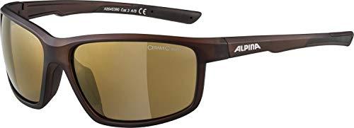 Alpina DEFEY Sportbrille, Unisex- Erwachsene, brown transparent matt,