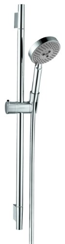 hansgrohe 4266000 Unica S 24-Inch Wall Bar Set with Multi-Function Hand Shower and 63-Inch Techniflex Hose, 28 1/4 Inch Length, Chrome