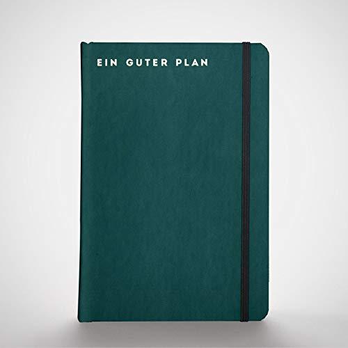 Ein guter Plan Pro 2021   Ganzheitlicher Terminkalender für mehr Achtsamkeit und Selbstliebe   Reflexion + Ziele erreichen   Klimaneutral, Altpapier   Petrol