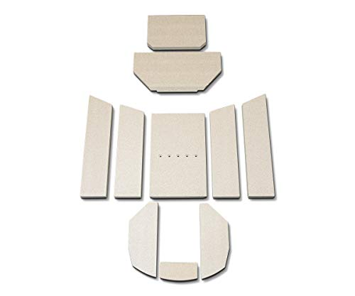 Feuerraumauskleidung B für Oranier Polar 6 Kaminöfen - Vermiculite - 10-teilig