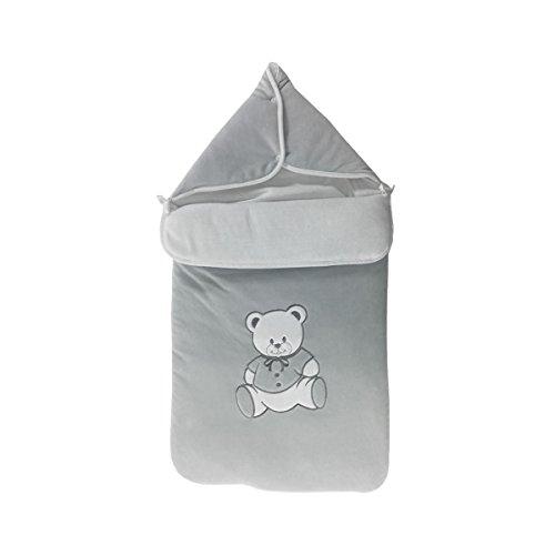 Nid d'ange pour bébé 0 à 6 Mois gris - Motif Nounours