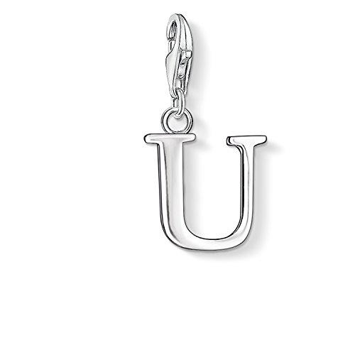Thomas Sabo Damen-Charm-Anhänger U Buchstabe Charm Club 925 Sterling Silber 0195-001-12