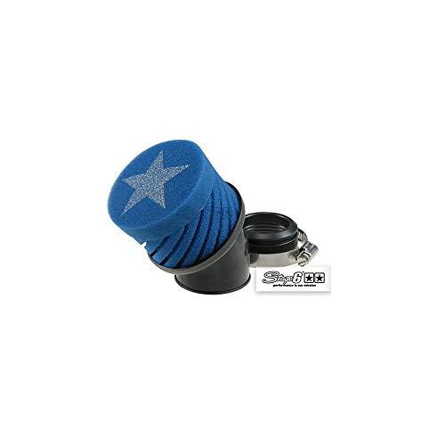 Filtre à air de STAGE6, Courte, Bleu, pour carburateur Mikuni Connexion – 44 mm