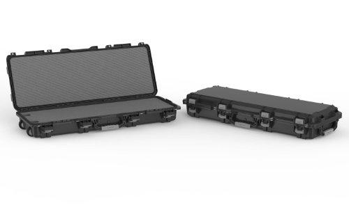 Plano Mil-Spec Field Locker Tactical Long Gun Case à roulettes, Mixte, 109440, Noir , Single Long Gun Case