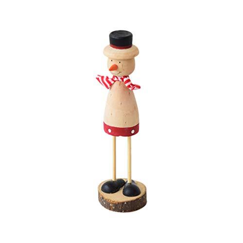 Supvox Holz Weihnachtsmann Schneemann Figur Nikolaus Dekofigur Weihnachten Deko Figuren Tischdeko Weihnachtsdeko Santa Dekoration Ornament Xmas Deko Geschenkidee