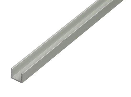 GAH-Alberts 030920 U-Profil - selbstklemmend, Aluminium, silberfarbig eloxiert, 1000 x 24,6 x 24 mm