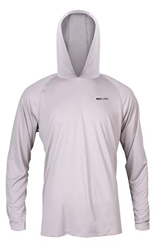 NiceClimbs Men's Rock Climbing Sun Hoody (Large) Gray