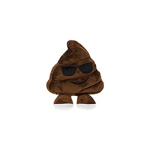 PMS Peluche Emoji Caquita Emoticono Caca Cojín Almohada Super Suave 35 CM (14') (470565 Marron Gafas)