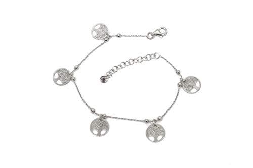 MAGICMOON - Mod. VTP10000315 - Delizioso bracciale donna argento 925 rodiato con ciondoli Albero della vita