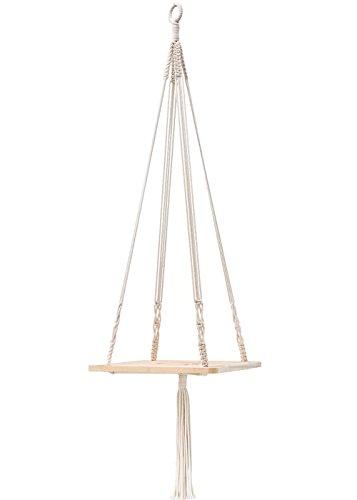 Mkouo macramé estante para colgar maceta decoración para el hogar 45 cm
