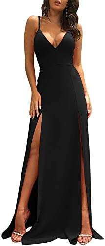 Sexy long dress with slit