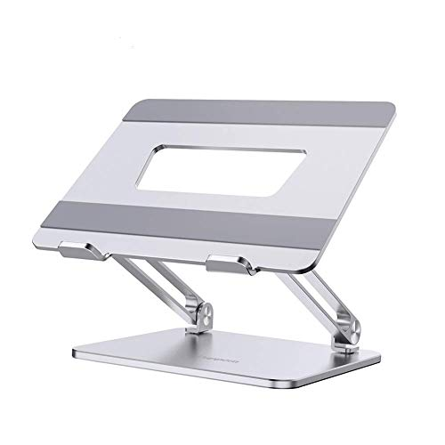 YLJJ Soporte para computadora portátil, ergonómico, Altura Ajustable, circulación de Aire, Soporte de Aluminio portátil, Plegable, para portátiles de 11 a 17 Pulgadas