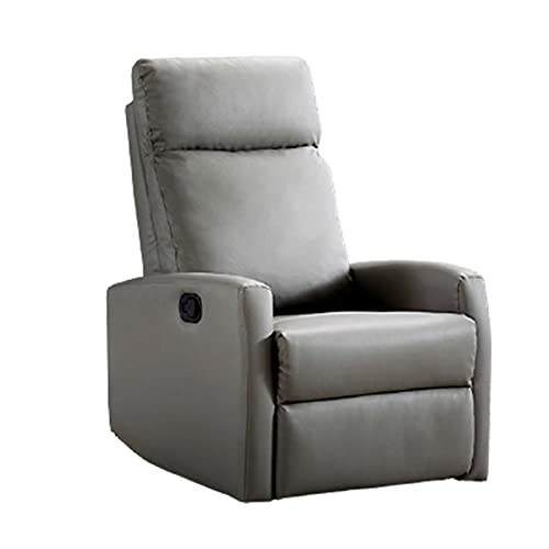 Sedia per massaggi casa, poltrona, reclinabile manualmente, pelle PU/flanella, reclinabile a 170 gradi, adatta per soggiorno, balcone, sala studio, 65x70x104cm