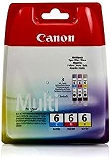 Original Canon 4706A022 / BCI 6, für Pixma IP 4000 3X Premium Drucker Patrone, Cyan, Magenta, Gelb, 3 x 13 ml