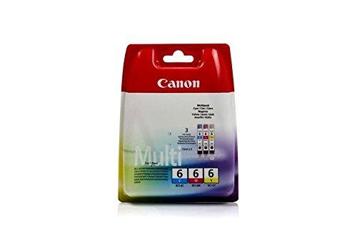 Original Canon 4706A022 / BCI-6, für Pixma IP 3000 3X Premium Drucker-Patrone, Cyan, Magenta, Gelb, 3 x 13 ml