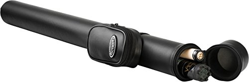 Casemaster Q-Vault Supreme Billiard/Pool Cue Hard Case, Holds 1 Complete 2-Piece Cue (1 Butt/1 Shaft), Black