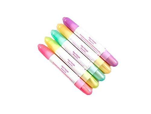 ThreeCat Lápiz Corrector de uñas con acetona (5 Unidades, 15 Puntas de Recambio), Colores aleatorios acetona