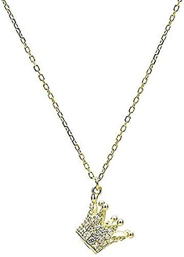 ZGYFJCH Co.,ltd Collar Corona pequeño Collar de botón Femenino