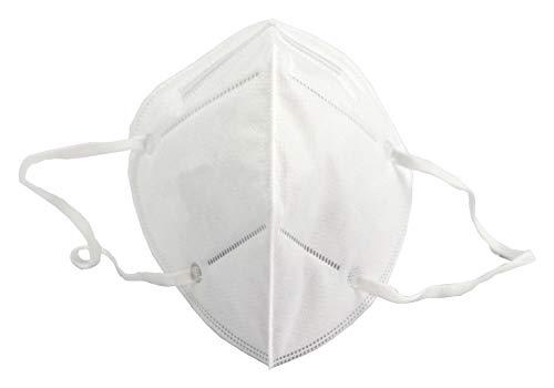 Momi - Atemmaske Mundschutz Feinstaub Maske 5 Stück - Weiss, Standard