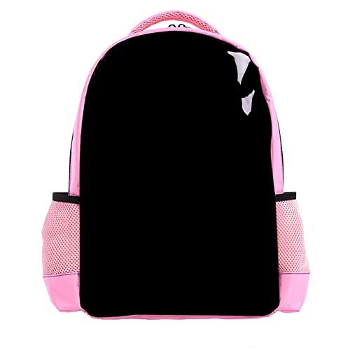Bianco Margherite, Ragazzi Zaini per la Scuola Carino Libreria per Bambini Teen Bambino Moda Impermeabile Zainetto Viaggio Laptop Bag Colore nero puro. MuLarge Talli