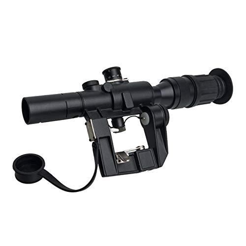 ToopMount Taktisches Zielfernrohr Airsoft 4x26mm Rot beleuchtet optisch mit freien 20mm&11mm Montageringen für die Jagd im Freien