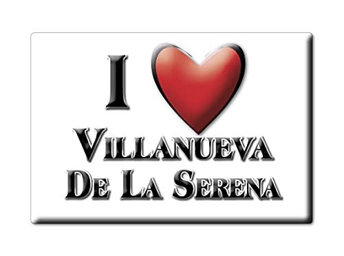 Enjoymagnets Villanueva DE LA Serena (BA) Souvenir IMANES DE Nevera ESPAÑA Extremadura...