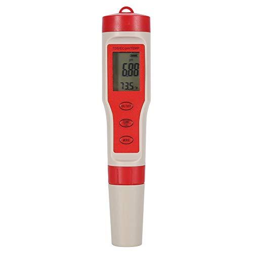 Wifehelper Medidor de pH Digital 4 en 1 PH TDS EC Temp Probador de Calidad del Agua Medidor de Prueba Pluma de Prueba para Piscina Hidroponía
