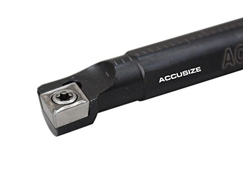 Accusize Industrial Tools 1/2'' x 7'' Overall Length, Rh Sclcr Indexable Boring Bar with Ccmt32.5 Carbide Inserts, P252-S403