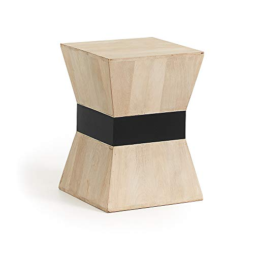 Kave Home - Table d'appoint Hover carrée 35 x 35 cm en Bois Massif en manguier