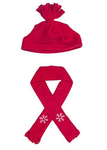 Sombrero y bufanda de invierno rojo – Ropa de peluche para 40 cm y 40 cm Teddies & Build a Bea