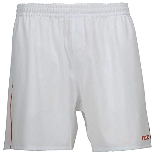 Nox Short Team Blanco con Logo Rojo (L)