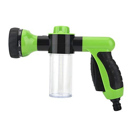 Tuinslang mondstuk, hogedrukspuit wasstraat schuim waterpistool reinigingsgereedschap wasmachine 6m (groen)