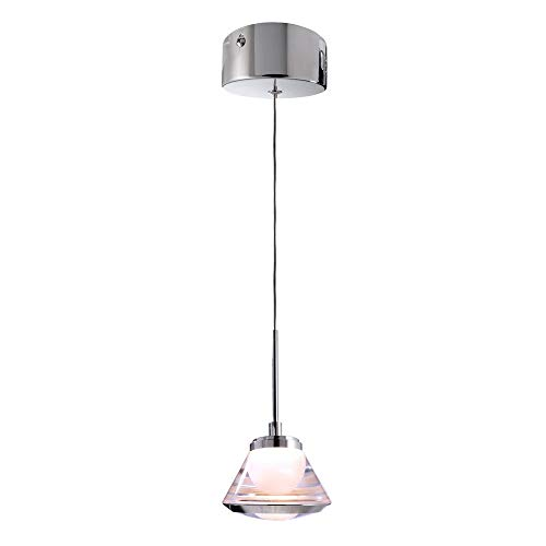 LED Pendelleuchte LUDIVINE, 5W, 220-240V, 3000K, IP20, transparent EEK: A