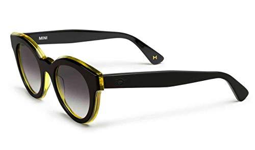 BMW - Gafas de sol originales Mini Contrast Edge Panto, unisex, color negro y amarillo