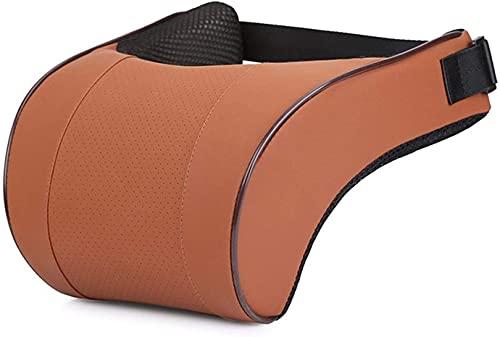 Sysyrqcer PU Cuero Auto Carquilas Cuello Almohada Memoria Espuma Almohadas Cuello Reposador Cabeza Cojín Cojín Automóviles Accesorios (Color : Brown)