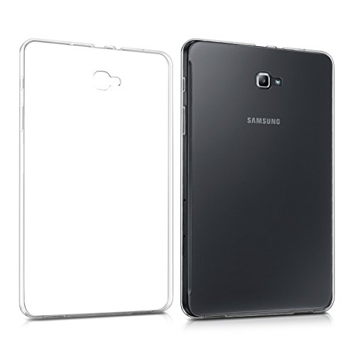 kwmobile Hülle kompatibel mit Samsung Galaxy Tab A 10.1 T580N/T585N (2016) - Silikon Case transparent - Tablet Cover Transparent