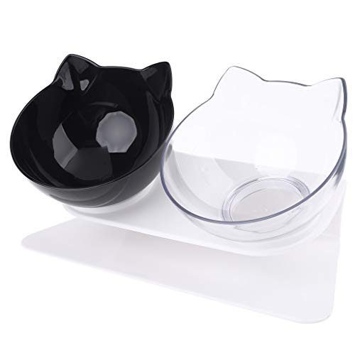 Pet Bowl, Heallege Non-Slip Cat Double Bowls with Raised...