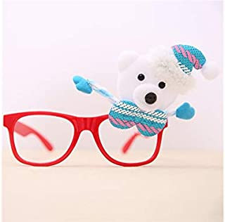 Pengcher Cute Christmas Ornaments Glasses Frames Evening Party Toy Xmas Gifts Decoration Without Lenses(Blue)