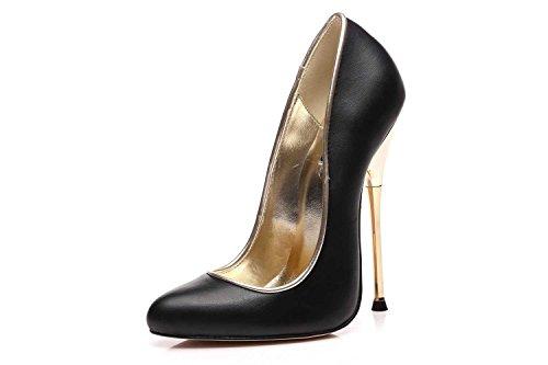 GIARO Baby High Heels in Übergrößen Schwarz große Damenschuhe, Größe:36