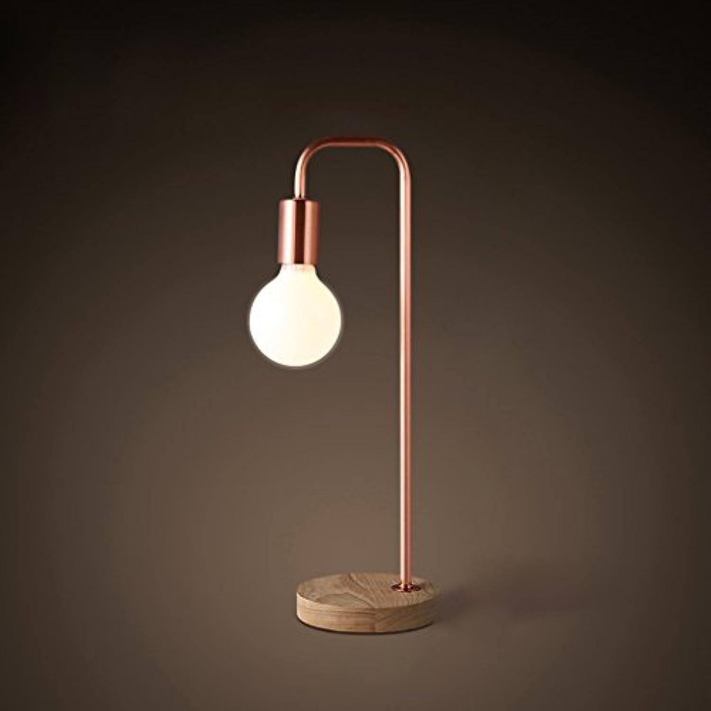 Moderne Schreibtisch Student Leseschreibtisch Lampe, einfache Persnlichkeit Schlafzimmer Studie Bett Holzbeleuchtung Tischlampe LED E27 Lampenfassung (wei) (Farbe   Bronze)