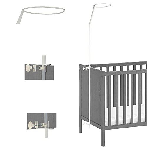 Looping - Flèche de Lit Bébé 150 cm - Support Universel pour Ciel de Lit (Blanc)