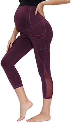 Maternity Capri Yoga Pants Workout Leggings Running Exercise Active Athletic Gym Tights product image