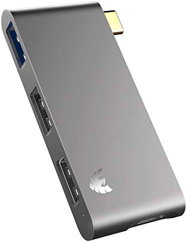 USB C to USB Hub ARISEN 5 in 1 Zinc Alloy USBC Hub Adapter with USB 3 0 5Gb Data Port 2 USB product image