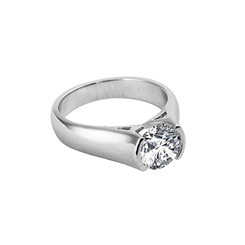 AINUOSHI 2 Carat Solitaire Round Brilliant Cubic Zirconia CZ Sterling Silver 925...