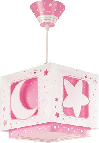 lampe suspension enfant Moonlight lune et étoiles Rose